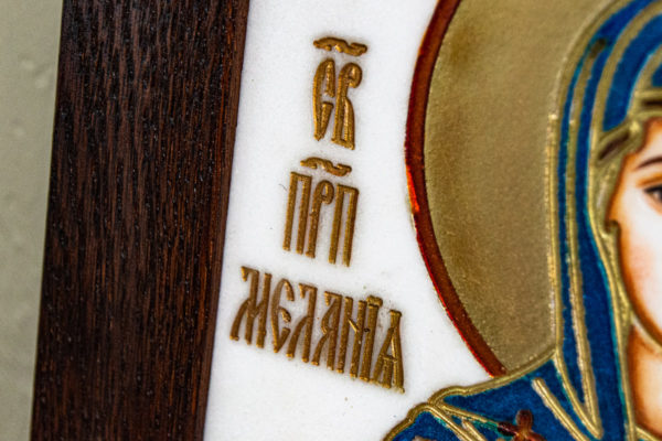 Икона Святой Мелании № 01 из мрамора, каталог икон в интернет-магазине, изображение, фото 9