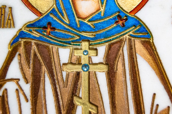 Икона Святой Мелании № 01 из мрамора, каталог икон в интернет-магазине, изображение, фото 10