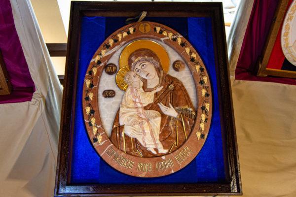 Икона Храмовая (Аналойная) Божьей Матери Жировичской, изображение, фото 1