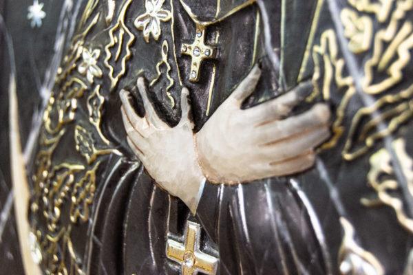 Резная икона Остробрамской Божьей Матери из мрамора, каталог икон в интернет-магазине изображение, фото 9