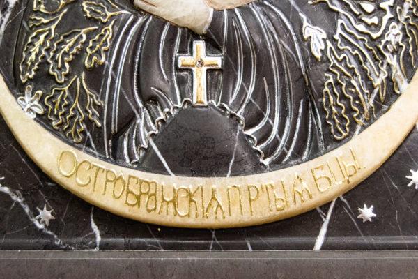 Резная икона Остробрамской Божьей Матери из мрамора, каталог икон в интернет-магазине изображение, фото 10