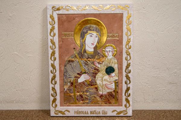 Икона Минская Богородица под № 1-12-6 из мрамора, изображение, фото для каталога икон 1