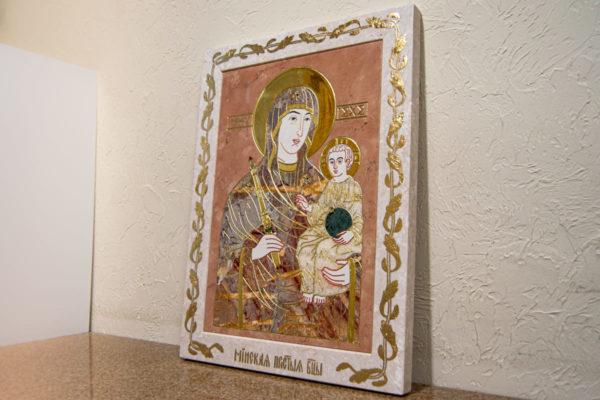 Икона Минская Богородица под № 1-12-6 из мрамора, изображение, фото для каталога икон 2