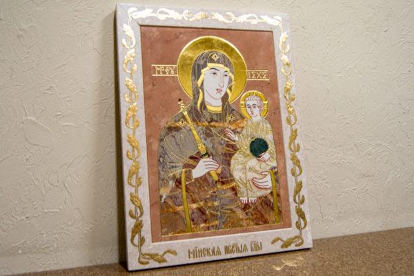 Икона Минская Богородица под № 1-12-6 из мрамора, изображение, фото для каталога икон 3