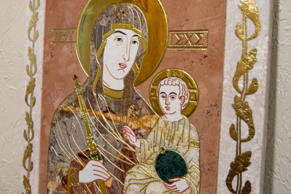 Икона Минская Богородица под № 1-12-6 из мрамора, изображение, фото для каталога икон 4
