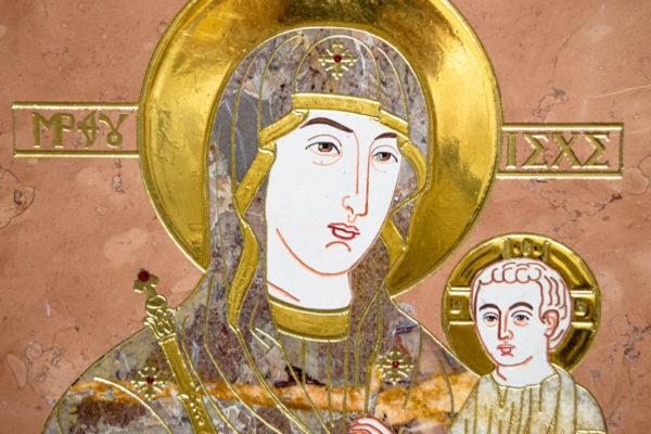 Икона Минская Богородица под № 1-12-6 из мрамора, изображение, фото для каталога икон 7