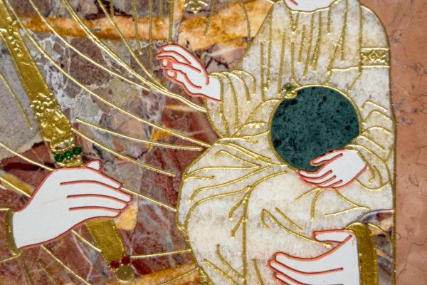 Икона Минская Богородица под № 1-12-6 из мрамора, изображение, фото для каталога икон 8