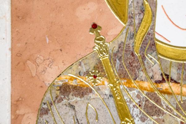 Икона Минская Богородица под № 1-12-6 из мрамора, изображение, фото для каталога икон 9