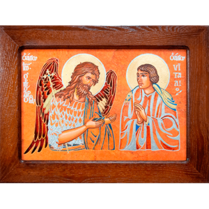 Семейная икона, Святые Иоанн Креститель (Иоанн Предтеча) и Виталий№ 01, изображение, фото 1