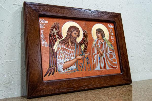 Семейная икона, Святые Иоанн Креститель (Иоанн Предтеча) и Виталий№ 01, изображение, фото 2