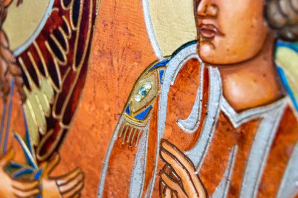 Семейная икона, Святые Иоанн Креститель (Иоанн Предтеча) и Виталий№ 01, изображение, фото 6