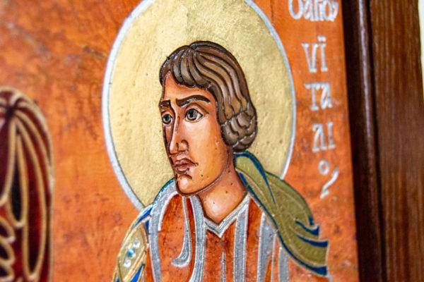 Семейная икона, Святые Иоанн Креститель (Иоанн Предтеча) и Виталий№ 01, изображение, фото 10