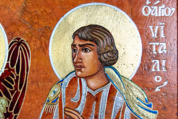 Семейная икона, Святые Иоанн Креститель (Иоанн Предтеча) и Виталий№ 01, изображение, фото 12