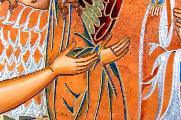 Семейная икона, Святые Иоанн Креститель (Иоанн Предтеча) и Виталий№ 01, изображение, фото 13