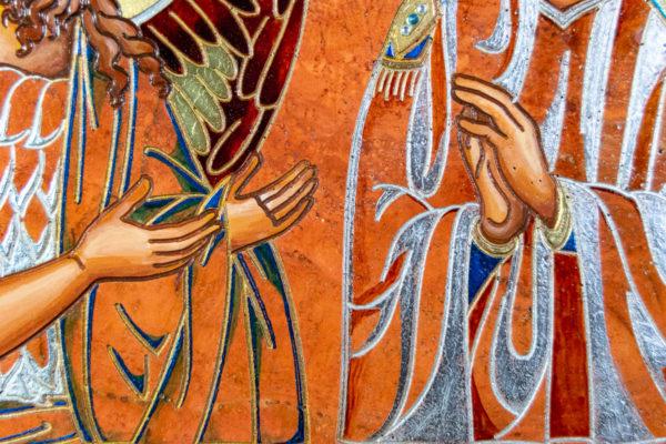Семейная икона, Святые Иоанн Креститель (Иоанн Предтеча) и Виталий№ 01, изображение, фото 14