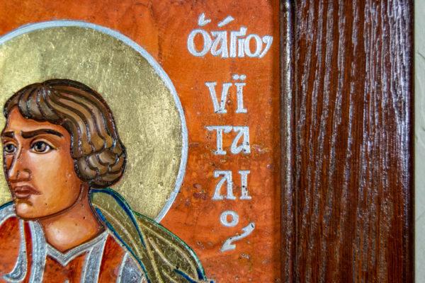 Семейная икона, Святые Иоанн Креститель (Иоанн Предтеча) и Виталий№ 01, изображение, фото 15