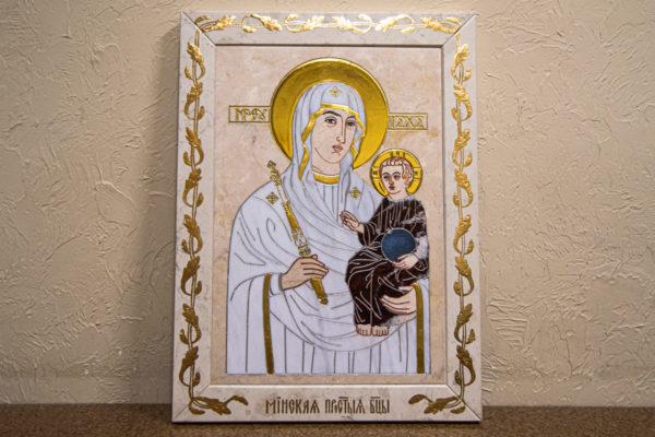 Икона Минская Богородица под № 1-12-9 из мрамора, изображение, фото для каталога икон 1