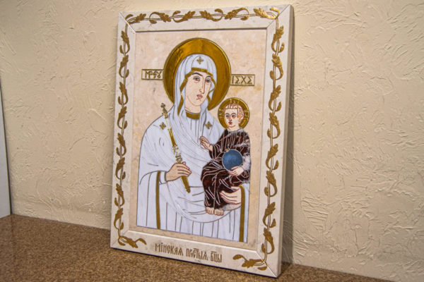 Икона Минская Богородица под № 1-12-9 из мрамора, изображение, фото для каталога икон 2