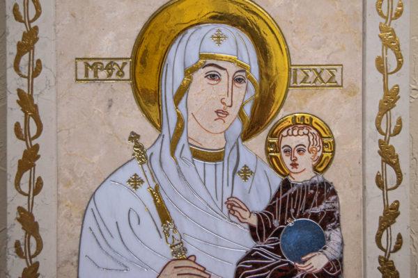 Икона Минская Богородица под № 1-12-9 из мрамора, изображение, фото для каталога икон 4