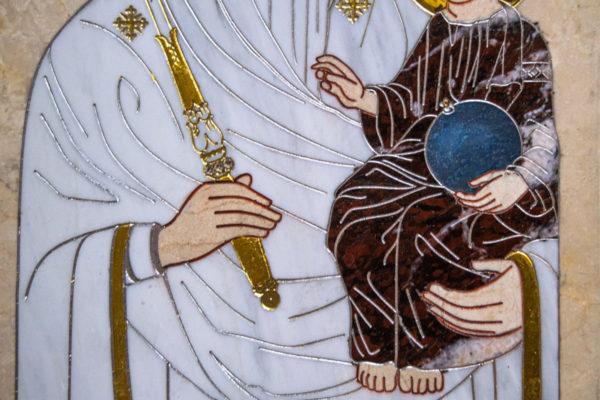 Икона Минская Богородица под № 1-12-9 из мрамора, изображение, фото для каталога икон 5