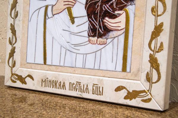 Икона Минская Богородица под № 1-12-9 из мрамора, изображение, фото для каталога икон 6