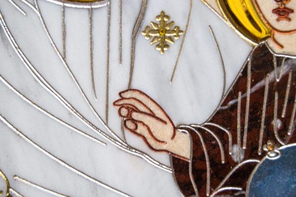 Икона Минская Богородица под № 1-12-9 из мрамора, изображение, фото для каталога икон 8
