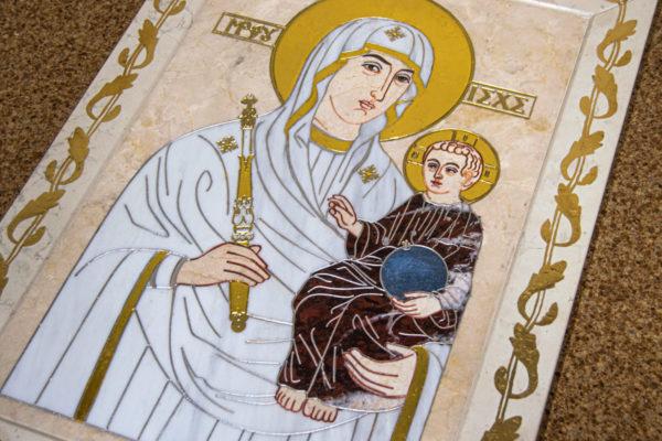 Икона Минская Богородица под № 1-12-9 из мрамора, изображение, фото для каталога икон 10