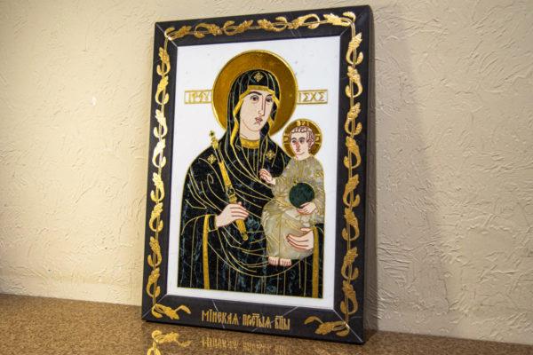 Икона Минская Богородица под № 1-12-7 из мрамора, изображение, фото для каталога икон 3