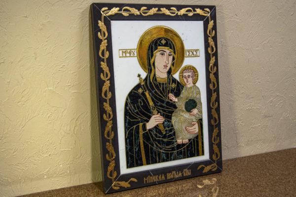 Икона Минская Богородица под № 1-12-7 из мрамора, изображение, фото для каталога икон 4