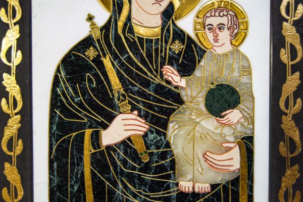 Икона Минская Богородица под № 1-12-7 из мрамора, изображение, фото для каталога икон 6