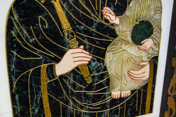 Икона Минская Богородица под № 1-12-7 из мрамора, изображение, фото для каталога икон 8