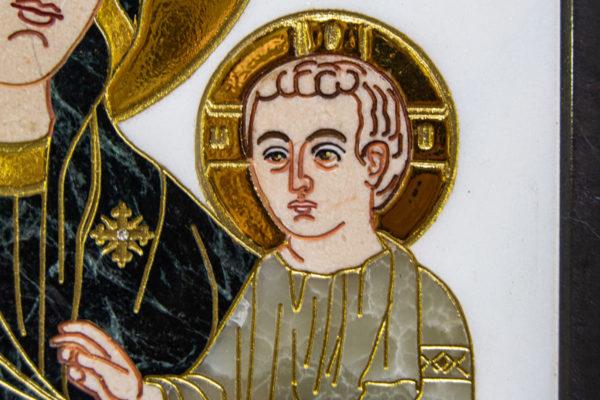 Икона Минская Богородица под № 1-12-7 из мрамора, изображение, фото для каталога икон 9