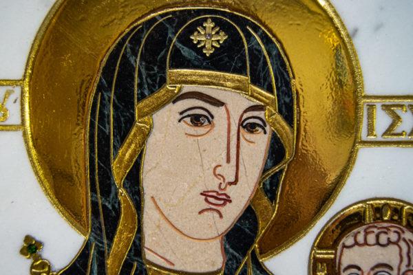 Икона Минская Богородица под № 1-12-7 из мрамора, изображение, фото для каталога икон 10