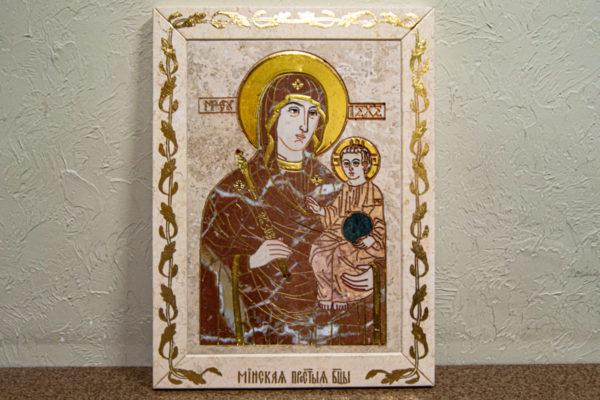 Икона Минская Богородица под № 1-12-4 из мрамора, изображение, фото для каталога икон 2