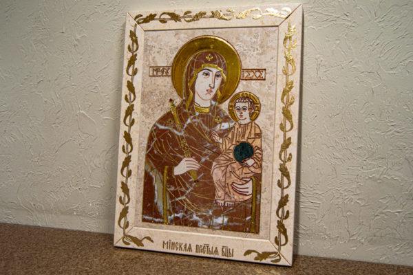 Икона Минская Богородица под № 1-12-4 из мрамора, изображение, фото для каталога икон 3