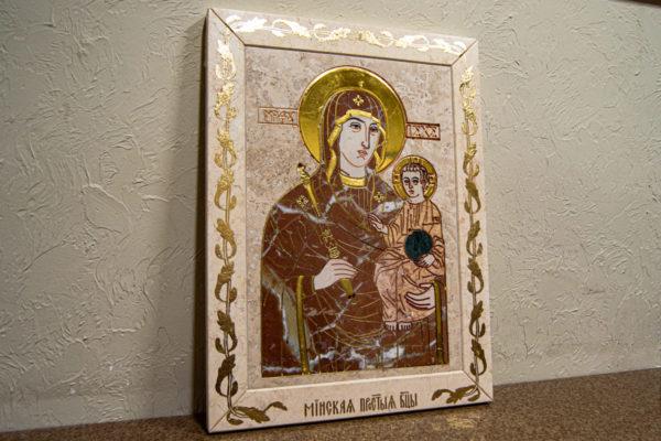 Икона Минская Богородица под № 1-12-4 из мрамора, изображение, фото для каталога икон 4
