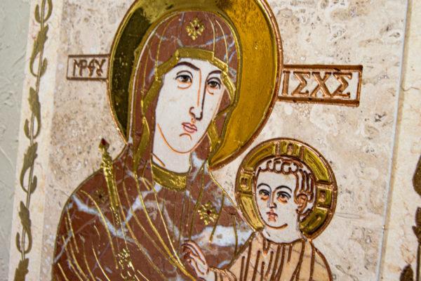 Икона Минская Богородица под № 1-12-4 из мрамора, изображение, фото для каталога икон 5