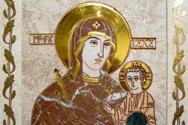 Икона Минская Богородица под № 1-12-4 из мрамора, изображение, фото для каталога икон 7