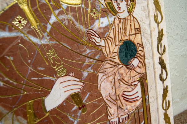 Икона Минская Богородица под № 1-12-4 из мрамора, изображение, фото для каталога икон 8