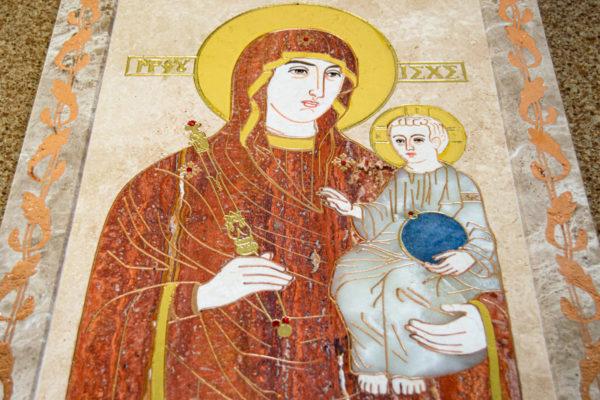 Икона Минская Богородица под № 1-12-2 из мрамора, изображение, фото для каталога икон 1
