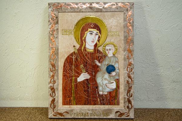 Икона Минская Богородица под № 1-12-2 из мрамора, изображение, фото для каталога икон 2