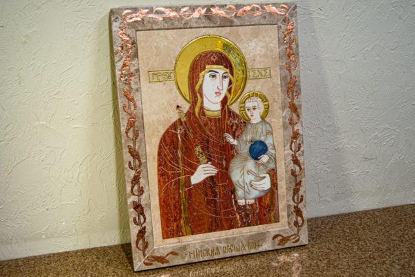 Икона Минская Богородица под № 1-12-2 из мрамора, изображение, фото для каталога икон 3
