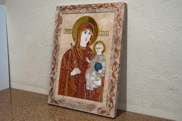 Икона Минская Богородица под № 1-12-2 из мрамора, изображение, фото для каталога икон 4