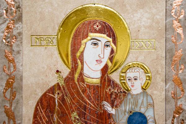 Икона Минская Богородица под № 1-12-2 из мрамора, изображение, фото для каталога икон 5