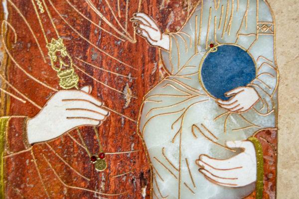 Икона Минская Богородица под № 1-12-2 из мрамора, изображение, фото для каталога икон 6