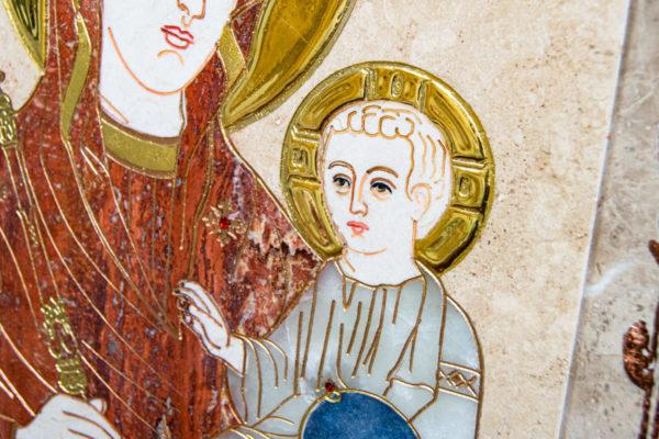 Икона Минская Богородица под № 1-12-2 из мрамора, изображение, фото для каталога икон 8