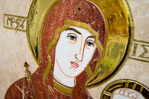 Икона Минская Богородица под № 1-12-2 из мрамора, изображение, фото для каталога икон 9