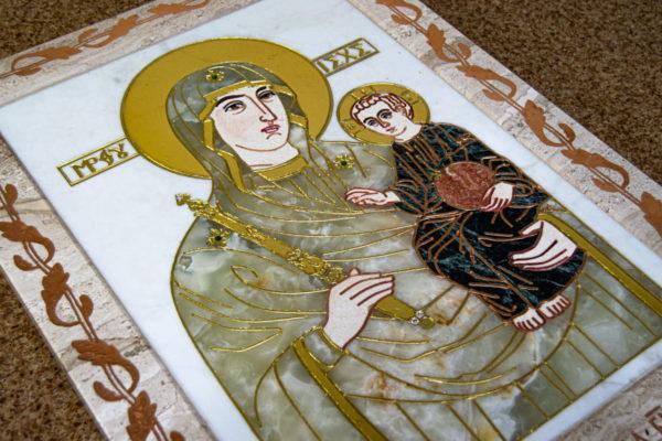Икона Минская Богородица под № 1-12-1 из мрамора, изображение, фото для каталога икон 1
