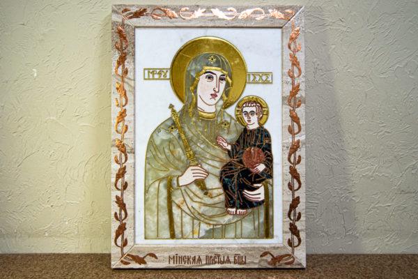 Икона Минская Богородица под № 1-12-1 из мрамора, изображение, фото для каталога икон 2