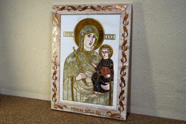 Икона Минская Богородица под № 1-12-1 из мрамора, изображение, фото для каталога икон 3